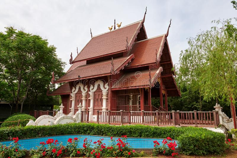 De Thailand byggnaderna i XI 'en expo parkerar arkivbild