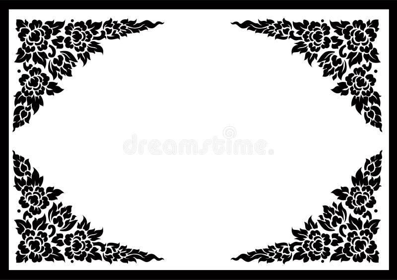 De Thaise achtergrond van het bloempatroon vector illustratie