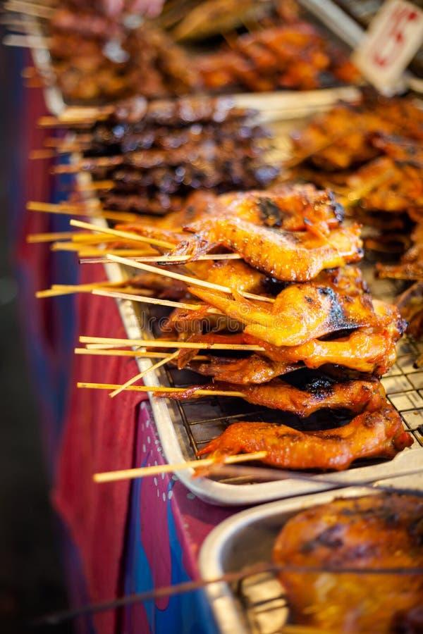 De Thaise barbecue van de vleespenkip royalty-vrije stock foto's