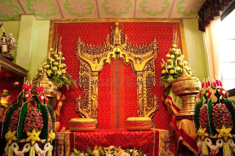 De Thaise Ceremonie van het Huwelijk stock foto