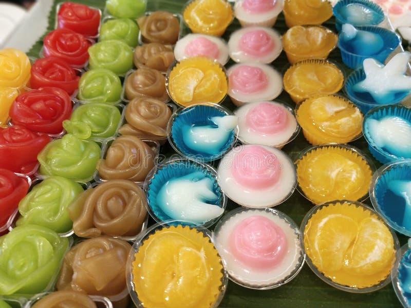 De Thaise desserts zijn uniek in Thaise cultuur royalty-vrije stock afbeeldingen