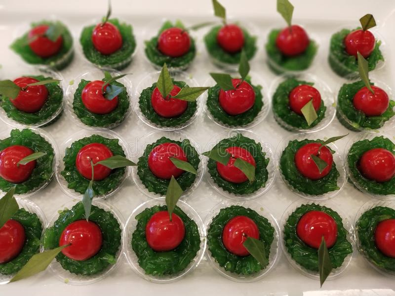 De Thaise desserts zijn uniek in Thaise cultuur 8 stock afbeelding