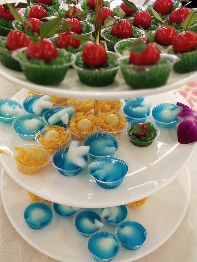 De Thaise desserts zijn uniek in Thaise cultuur 10 stock foto