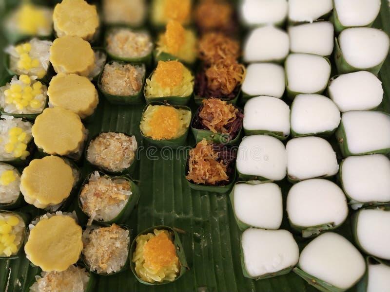 De Thaise desserts zijn uniek in Thaise cultuur 16 stock foto