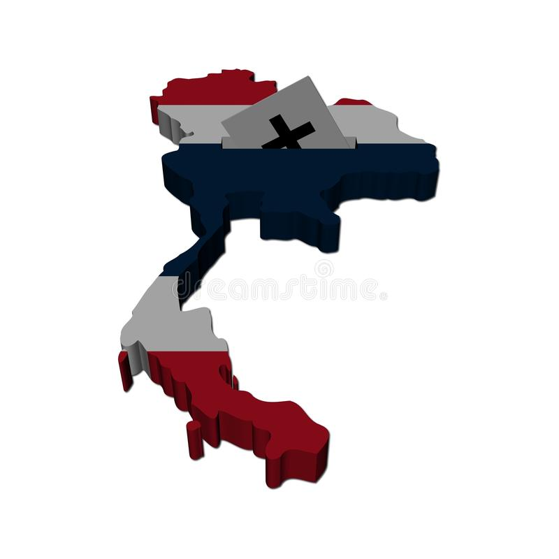 De Thaise illustratie van de verkiezingskaart vector illustratie