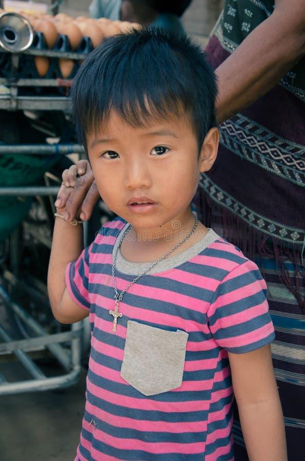 De Thaise Kinderen van de de Heuvelstam van Karen royalty-vrije stock afbeelding