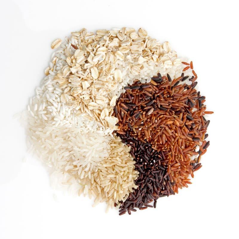 De Thaise ladingsrijst is de verwezenlijking van de Thaise rijst eaperts en Jap stock afbeelding