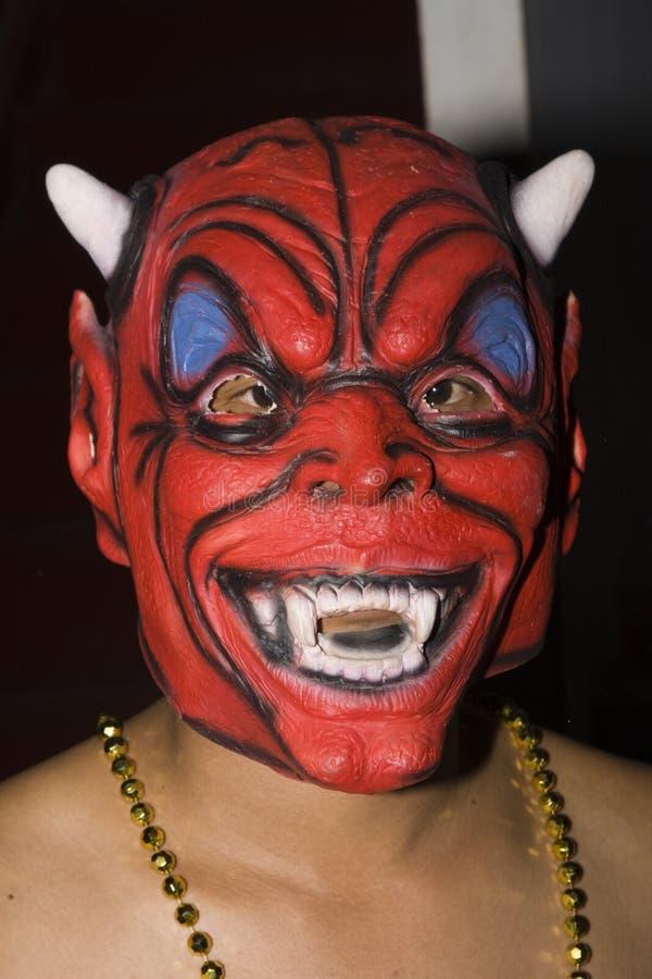 De Thaise mensen vieren Halloween stock foto