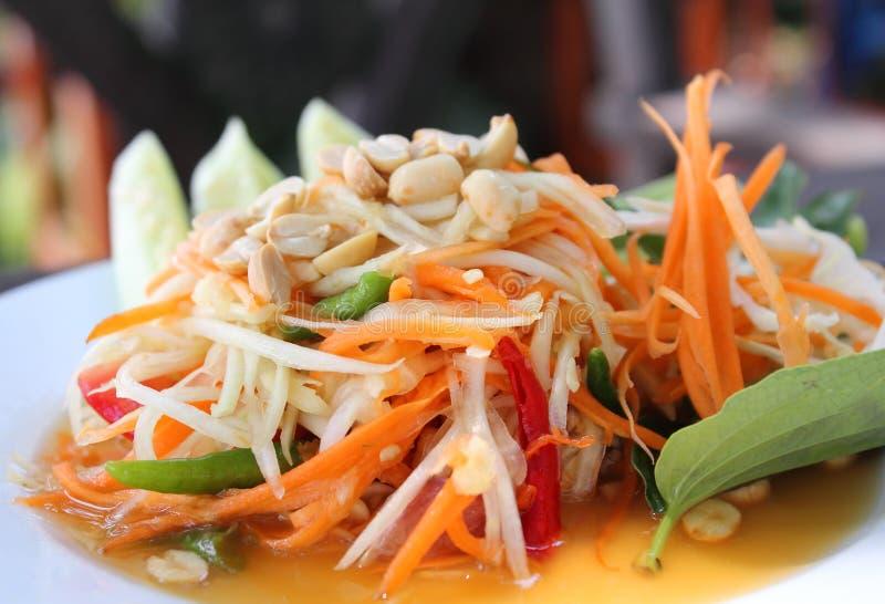 De Thaise salade van de Papaja royalty-vrije stock fotografie