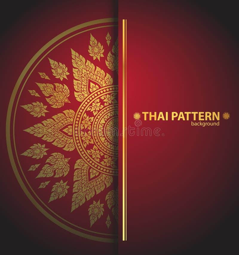De Thaise vector van patroonlijnen stock illustratie