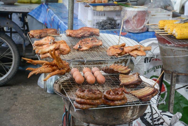 De Thaise verkoper van het straatvoedsel, Thailand royalty-vrije stock afbeelding