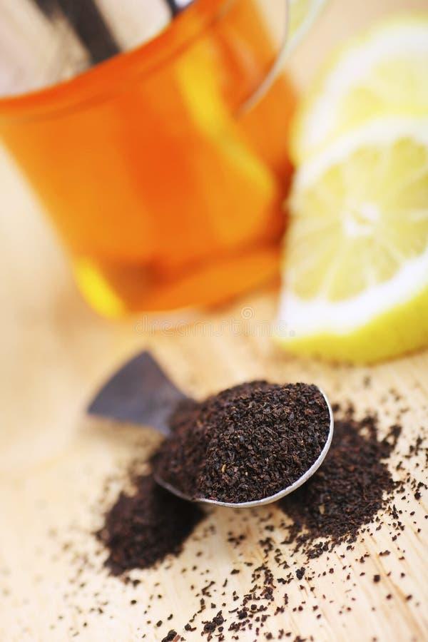 De thee van de citroen stock fotografie