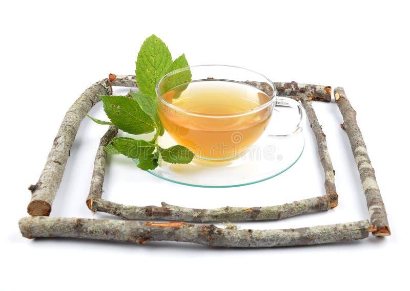 De thee van de citroenbalsem royalty-vrije stock foto's
