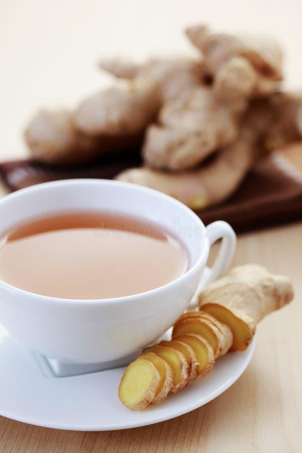 De thee van de gember royalty-vrije stock foto's