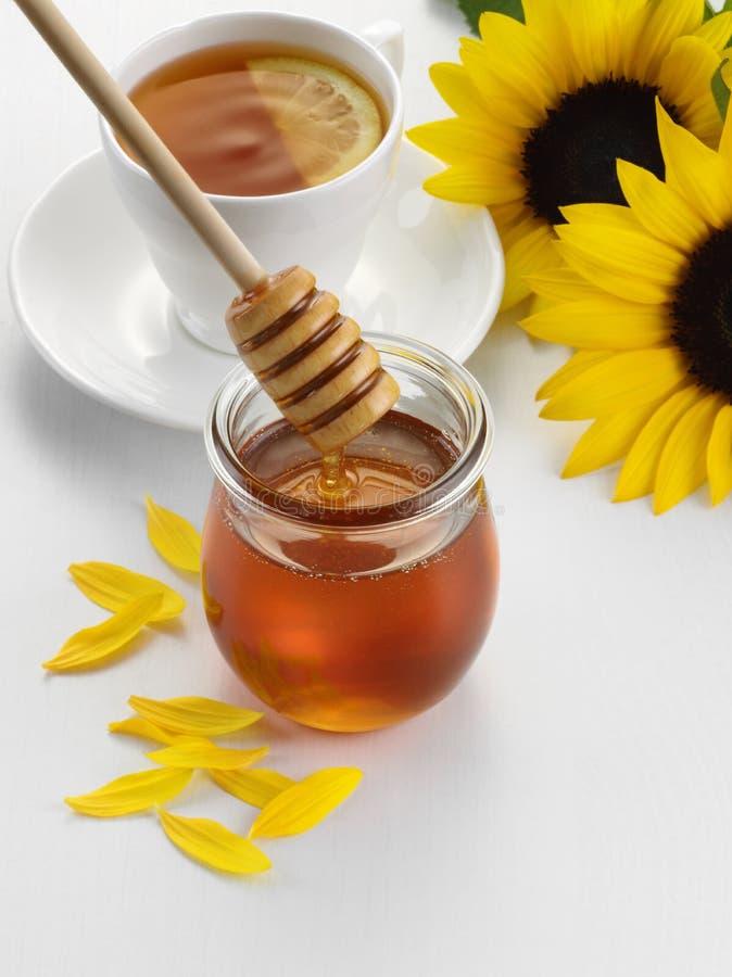 De thee van de honingscitroen stock afbeelding