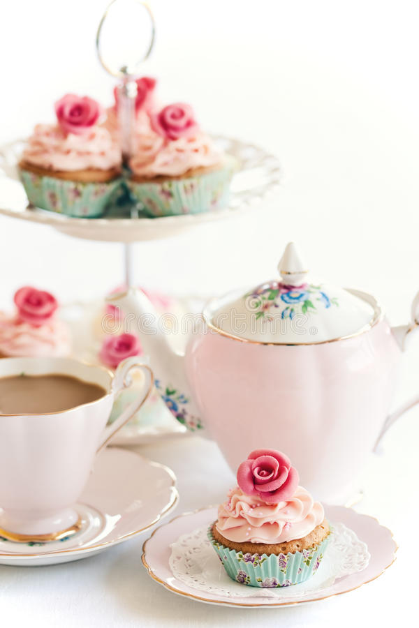 De thee van de middag stock foto's