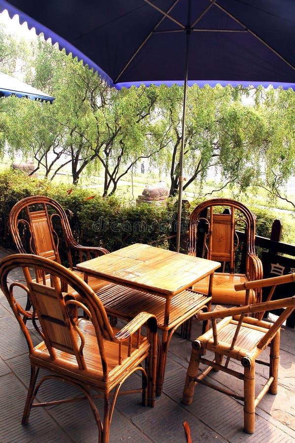 De theehuis van het bamboe royalty-vrije stock fotografie