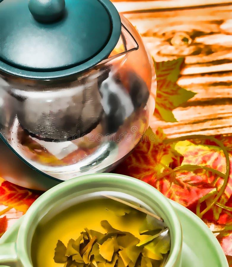 De theeverfrissing vertegenwoordigt Cafetaria'srestaurant en Koffie stock fotografie