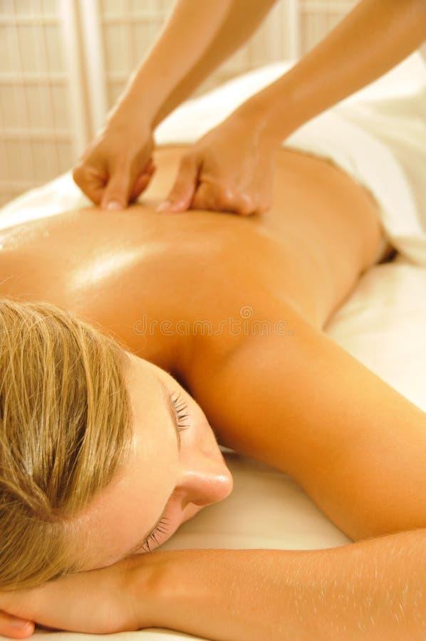De Therapie van de massage stock foto's