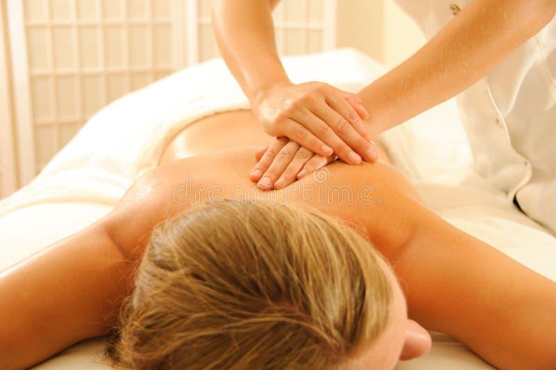 De Therapie van de massage stock fotografie
