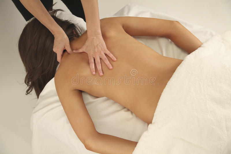 De Therapie van de massage stock fotografie
