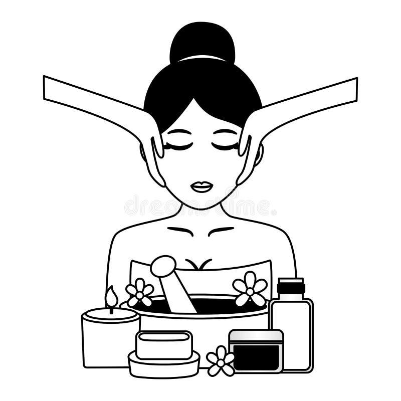 De therapie van de kuuroordbehandeling royalty-vrije illustratie