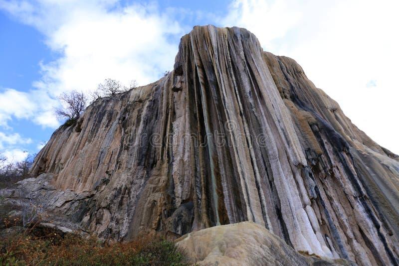 De thermische Minerale Lente Hierve Gr Agua stock afbeeldingen