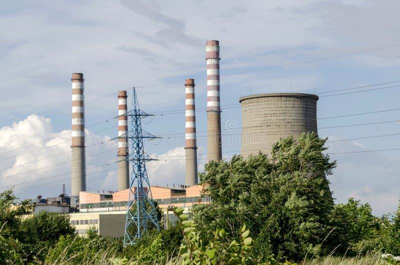 De thermo-elektrische elektrische centrale Sofia Iztok, sluit omhoog royalty-vrije stock afbeelding
