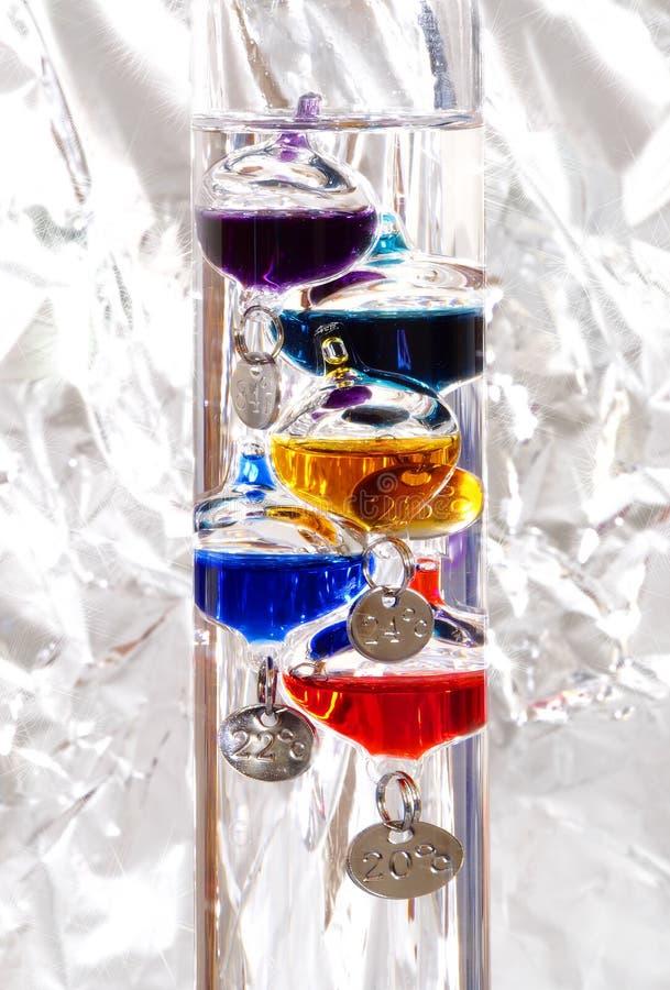 De thermometer van Galileo stock foto