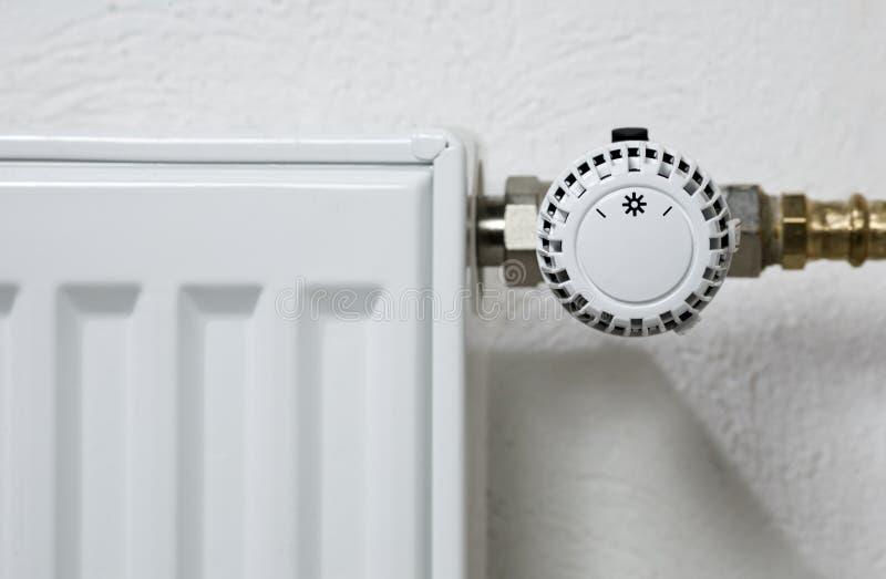 De Thermostaat van de radiator stock fotografie