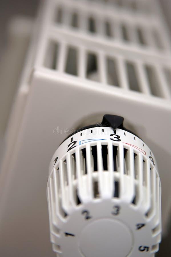 De Thermostaat van de radiator royalty-vrije stock afbeeldingen
