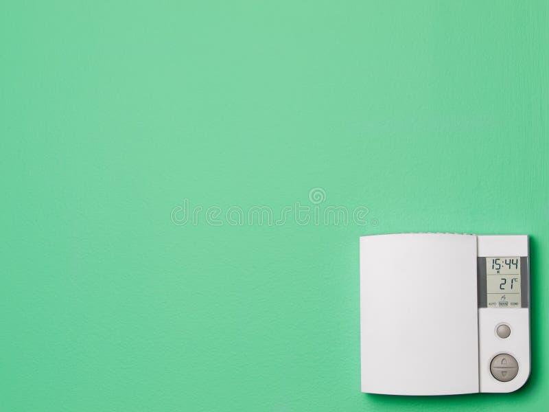 De thermostaat van het digitale controlehuis stock afbeelding