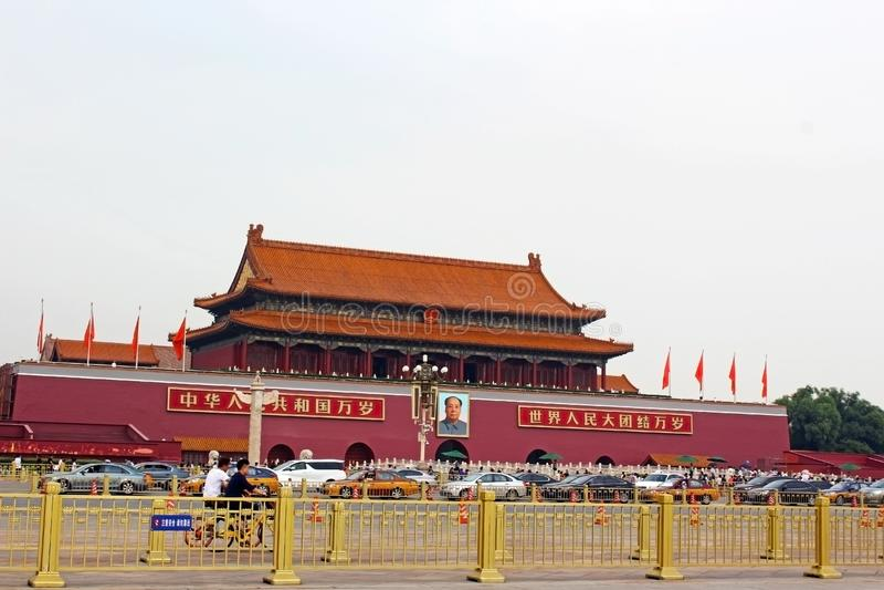 ` De Tian une place d'hommes, Pékin image stock