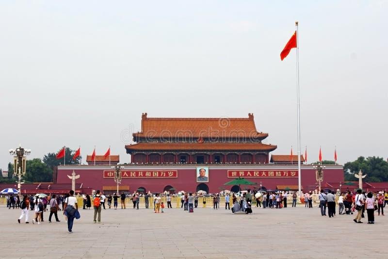` De Tian une place d'hommes, Pékin photos libres de droits