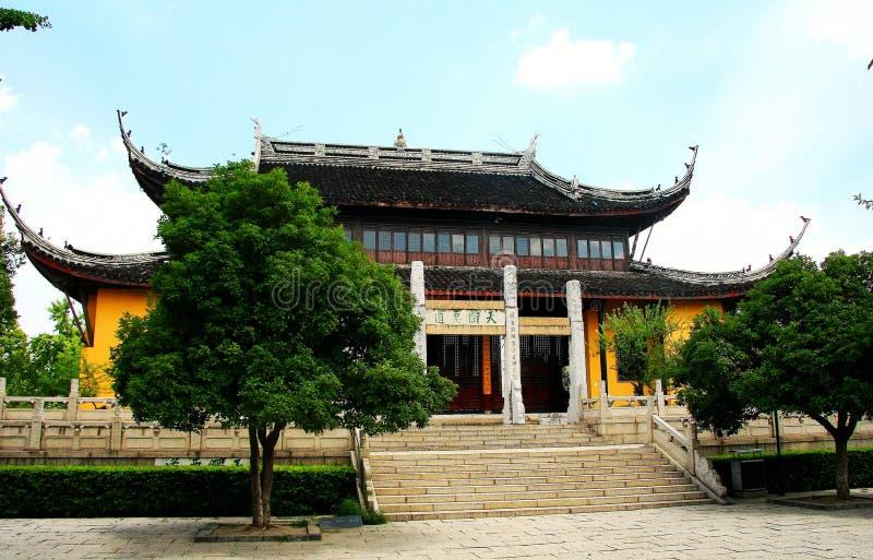 De Tianningstempel wordt gevestigd in Changzhou-stad stock foto