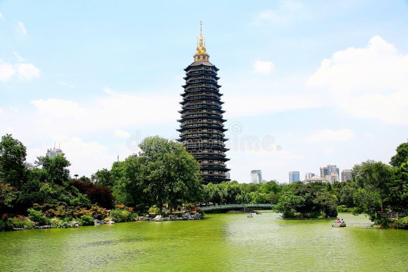 De Tianningstempel wordt gevestigd in Changzhou-stad royalty-vrije stock fotografie