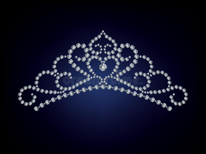 De tiara van de Diamant stock illustratie