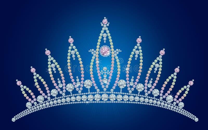 De tiara van de diamant/vectorillustraties vector illustratie