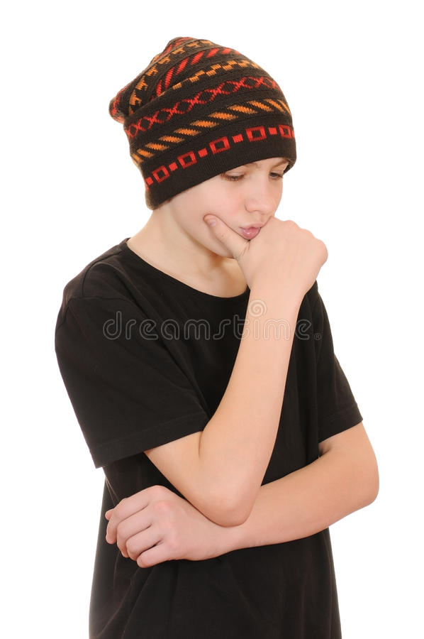 De tiener in een zwart vest en een hoed stock foto afbeelding 12042872 - Zwart witte tiener slaapkamer ...