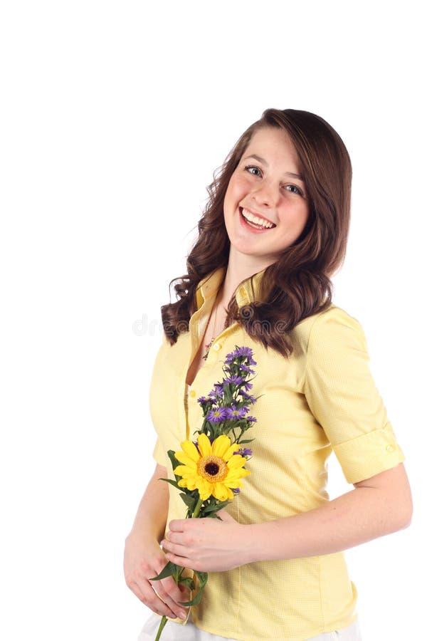 De Tiener van de bloem stock foto