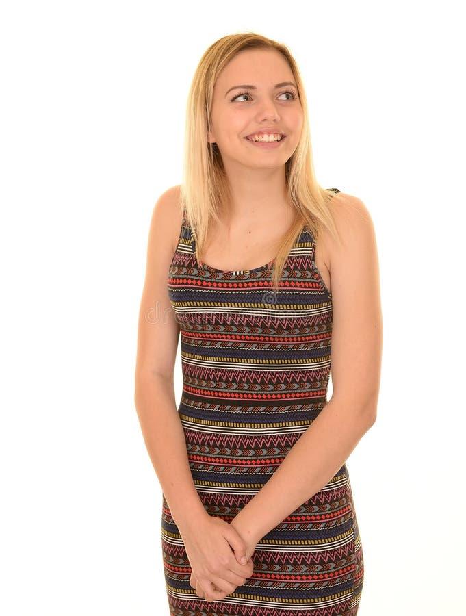 De tiener van de blonde het glimlachen royalty-vrije stock foto's
