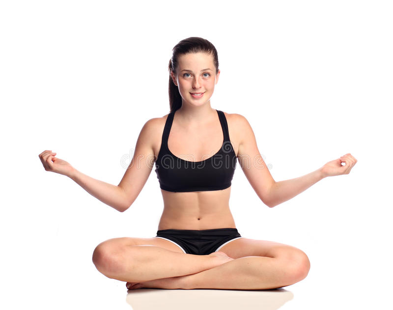 De tiener van de yoga royalty-vrije stock foto