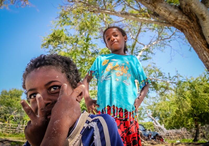 De tieners van Madagascar royalty-vrije stock foto