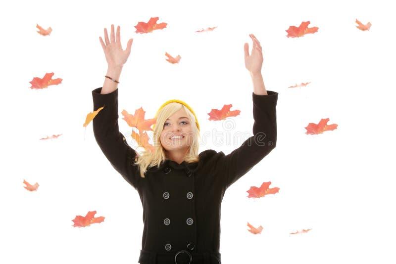 De tienervrouw van de herfst stock foto's