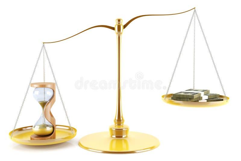 De tijd is geld vector illustratie