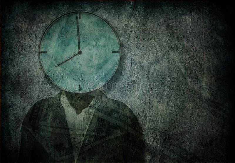 De tijd is geld stock illustratie