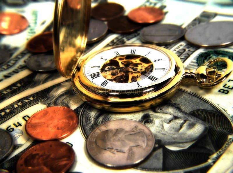 De tijd is Geld stock afbeeldingen
