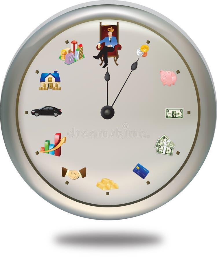 De tijd is geld *** kan de wijzer plaatsen aangezien bleek u royalty-vrije illustratie