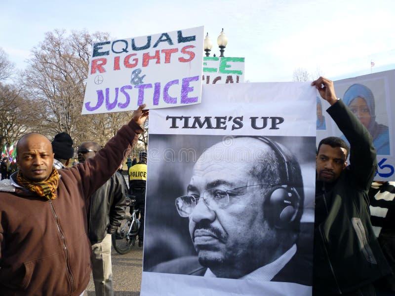 De tijd is omhoog voor Saleh royalty-vrije stock afbeelding