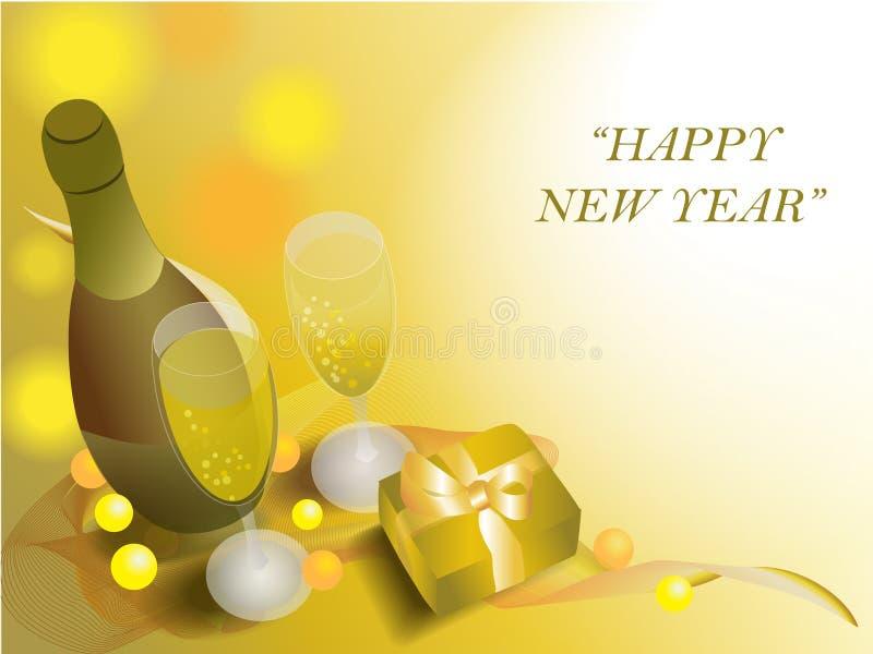 De tijd van Champagne en het vieren stock afbeelding